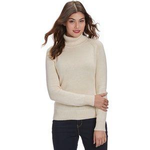 Jeanne Pierre Perfect Turtleneck Sweater Cream L
